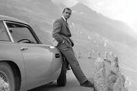 "JAMES BOND 007 POSTER - SEAN CONNERY & ASTON MARTIN - 91 x 61 cm 36"" x 24"""