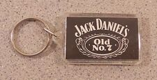 Jack Daniel's whiskey old number 7 plastic black and white print keychain