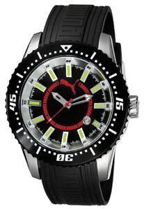 Puma Time Motorsport Kautschuk Armband Herrenuhr RIM BLACK PU102121001 NEU!!!