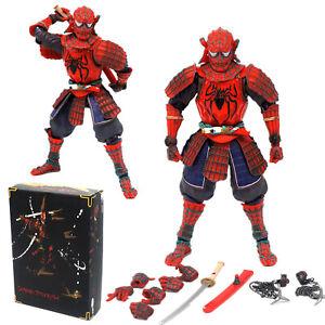 7'' Samurai Spider-man Ninja PVC Action Figure Model Toy Movie Realization Inbox
