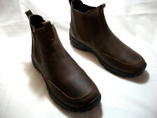NEW LANDS' END ALL WEATHER SLIP ON MAHOGANY CHELSEA BOOTS SIZE 10.5 D