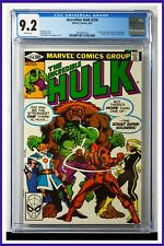 Incredible Hulk #258 CGC Graded 9.2 Marvel April 1981 White Pages Comic Book.