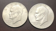 TWO (2) 1976 D Eisenhower Bicentennial Dollar Type 2 US Mint Coin