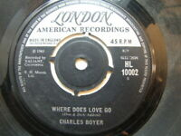 "Charles Boyer – Where Does Love Go 1965 7"" London HL 10002"