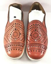 Earth Red Tangelo Slip On Cut Out Loafers Womens Size US 7M NWD