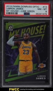 2019 Donruss Optic My House! Lime Green LeBron James /149 #13 PSA 8 NM-MT