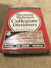Merriam-Webster Collegiate Dictionary, 11th Edition. Laminated Hard Cover