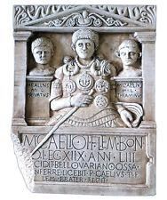 Roman Centurion Tombstone Relief Frieze Sculpture Replica Reproduction