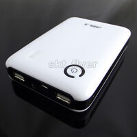 White 5V 1/1.5/2A USB Mobile Power Bank Charger box For 18650 Battery iphone LED