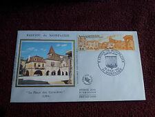 Enveloppe Premier Jour Soie 1986 Bastide de Monpazier First Day Cover