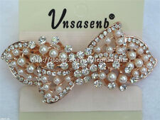 60% OFF! UNSASENB INTRICATE SIMULATED PEARLS W/ RHINESTONES HAIR CLIP #8 P198