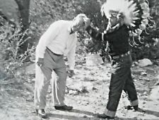 vintage indian tourist picture scalping white guy headdress photograph Colorado