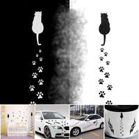 Removable Car Styling Reflective Rear Window Decor Decals Cat Footprints Sticker