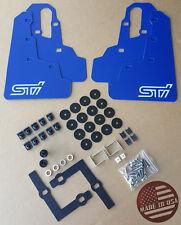 "[SR] 2015-2017 WRX & STi Mud Flaps Set BLUE with Hardware Kit & ""STi"" Vinyl"