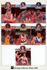 1995 Futera NBL Trading Cards SAMPLE Head To Head Diecut Set (7)--Rare!