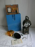 BW Hand Leuchte Lampe Eisemann KEB 130/1 in Holztransportkiste, mit Beschreibung