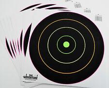 """12"""" Shooting Target Pack Silhouette Splatter Glowshot Gun Rifle Shooting 10 Pack"""
