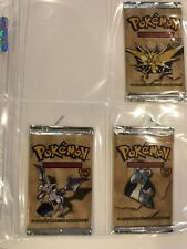 3 X Pokemon Sealed Booster Packs Spanish Fossil All 3 Arts - Unweighed