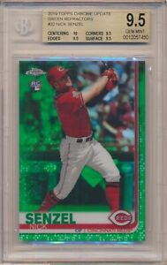 Nick Senzel 2019 Topps Chrome Update Green Refractor RC Rookie 45/99 BGS 9.5
