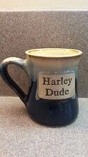 Blue Harley Dude Oversized Tumbleweed Pottery Coffee Mug Cup Unused