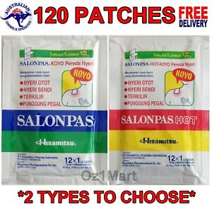120 PATCHES SALONPAS PAIN RELIEF HISAMITSU PATCH MUSCLE PAIN RELIEVING
