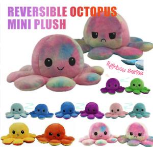 2pcs Octopus Plush Toy Double-Sided Octopus Flip Reversible Marine Animals Doll