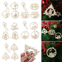 Snowman Wooden Pendants Xmas Decoration Christmas Tree Hanging Ornaments