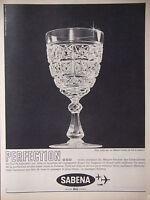 PUBLICITÉ DE PRESSE 1962 SABENA CRISTALLERIES DU VAL ST LAMBERT - ADVERTISING