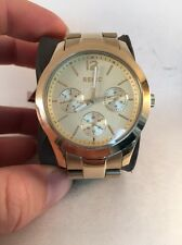 Relic by Fossil ZR15599 Ladies Champagne Dial Multifunction Gold Tone Watch HI