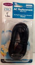 BELKIN Pro Series Universal AC Replacement Power Cord 6' Length F3A104-06