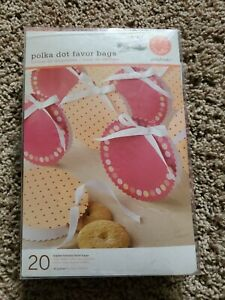 20 Martha Stewart Polka Dot Favor Bags Baby Shower Stamp Personalize Scouts NEW