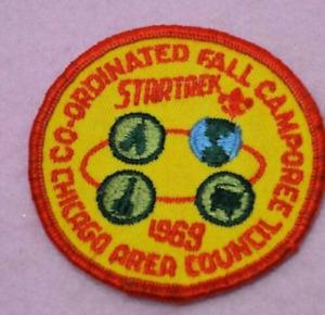 1969 Star Trek Boy Scouts Camporee Chicago PATCH BSA