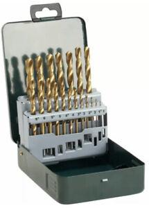 Bosch 2607019437 HSS Titanium 19 Piece Drill Bit Set With Case.