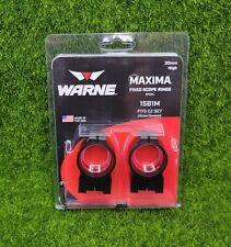 Warne Maxima 30mm High Fixed Steel Scope Rings, Black - Fits Cz 527 16mm - 15B1M