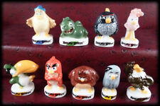 FEVES THEMA 2017 SERIE COMPLETE LOT DE 9 FEVES ANGRY BIRDS THE MOVIE
