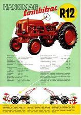 Hanomag Combitrac R12 Tractor Original Sales Brochure In Swedish Pub No. R12/6/5