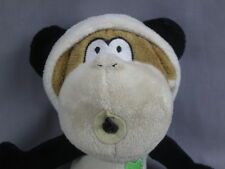 BOBBY JACK IN PANDA BEAR COSTUME  PLUSH STUFFED ANIMAL BROWN MONKEY ADORABLE TOY