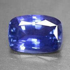 5.36 Cts Natural IGI Certified Cushion Violetish Blue Sapphire Unheated Ceylon $