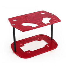 Ball Milled Billet Aluminum Hold Down Bracket Tray Red For 34&78 Optima Battery
