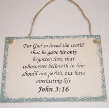 John 3:16 Christian Inspirational Sign For God So Loved The World Gave His Son