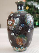 New ListingJapanese Meiji Antique Cloisonne Vase Handicraft Artwork Decoration日本景泰� 七�烧