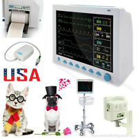 Veterinary Vital Signs Monitor Patient Monitor 7 Parameters ETCO2/Printer/Stand
