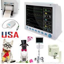 Veterinary Vital Signs Monitor Patient Monitor 7 Parameters Etco2printerstand