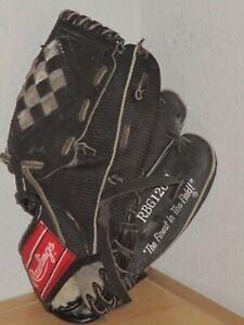 "Rawlings RBG36B Kids 12.5"" Ken Griffey Jr Black Baseball Softball Glove RHT Good"
