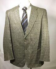 Vito Rufalo Mens Blazer Wool Silk Plaid SZ 44R Italy
