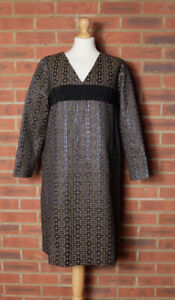 Orla Kiely Flower Check Jacquard Maddie Long Sleeve Dress UK 10 BNWT