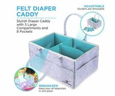 Baby Diaper Caddy Organizer Nursery Diaper Tote Bag Baby Shower Gift Baskets New
