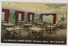 Rochester Minn Markay Dining Room Linen Hwy 52 MN Vintage Postcard