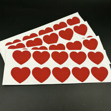 120pcs Scratch Off Labels .27mm x 32mm Red Heart Stickers