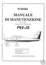 Tecnam P92 P92-J Echo Maintenance service manual rare historic archive detail
